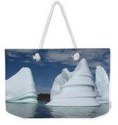 Icebergs Weekender Tote Bag