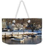Icebound Harbor Weekender Tote Bag