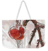 Iced Red Cherries Weekender Tote Bag