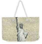 Icon Of Freedom Weekender Tote Bag