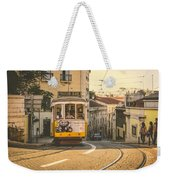 Iconic Lisbon Streetcar No. 28 Iv Weekender Tote Bag