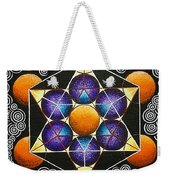 Icosahedron In A Metatron's Cube Weekender Tote Bag