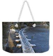 Icy Boardwalk Weekender Tote Bag