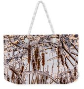 Icy Cattails Weekender Tote Bag