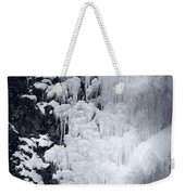 Icy Cliff - Black And White Weekender Tote Bag