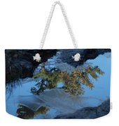 Icy Evergreen Reflection Weekender Tote Bag