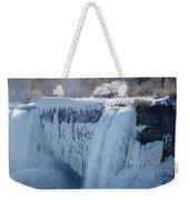 Icy Niagara Falls Weekender Tote Bag