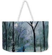 Icy Path - Palette Knife Oil Painting On Canvas By Leonid Afremov Weekender Tote Bag