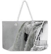 Icy Plunge At Niagara Falls Weekender Tote Bag