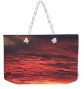Icy Red Sky Weekender Tote Bag