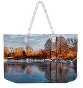 Icy Reflections At Sunrise - Lake Ontario Impressions Weekender Tote Bag