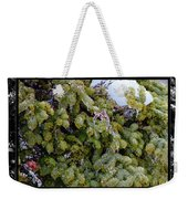 Icy Trees With Black And White Border Weekender Tote Bag