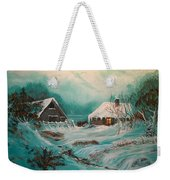 Icy Twilight Weekender Tote Bag