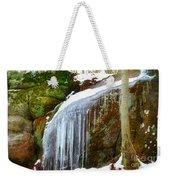 Icy Waterfall  Weekender Tote Bag