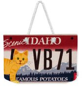 Idaho License Plate Weekender Tote Bag