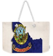 Idaho Map Art With Flag Design Weekender Tote Bag