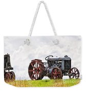 Idle Fordson Tractor On The Hill Weekender Tote Bag