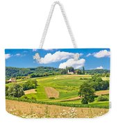 Idyllic Agricultural Landscape Panoramic View Weekender Tote Bag