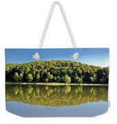 Idyllic Autumn Reflections On Lake Surface Weekender Tote Bag