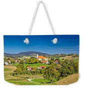 Idyllic Green Nature Of Croatian Village Of Glogovnica Weekender Tote Bag