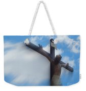 Iesus Nazarenvs Rex Ivdaeorvm Accession  At St. Joseph Church Garden In New Orleans Louisiana Weekender Tote Bag