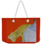 Iguana By The Tail Weekender Tote Bag