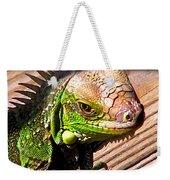 Iguana On The Deck At Mammacitas Weekender Tote Bag