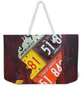 Illinois License Plate Map Weekender Tote Bag