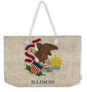 Illinois State Flag Weekender Tote Bag by Pixel Chimp