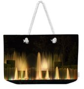 Illuminated Dancing Fountains Weekender Tote Bag