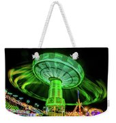 Illuminated Fair Ride With Blurred Neon Weekender Tote Bag