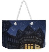 Illuminated Windows Of A Turret In A Timber Framed Tudor House Weekender Tote Bag