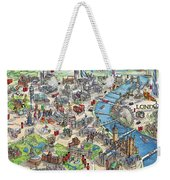 Illustrated Map Of London Weekender Tote Bag