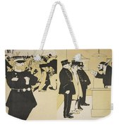 Illustration From Lassiette Au Beurre Weekender Tote Bag