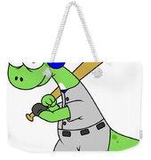 Illustration Of A Brontosaurus Baseball Weekender Tote Bag
