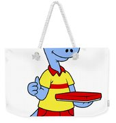 Illustration Of A Brontosaurus Delivery Weekender Tote Bag