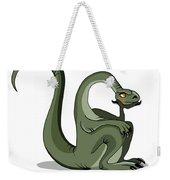 Illustration Of A Brontosaurus Thinking Weekender Tote Bag