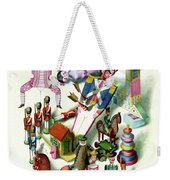 Illustration Of A Group Of Children's Toys Weekender Tote Bag