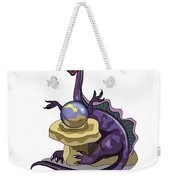 Illustration Of A Plateosaurus Fortune Weekender Tote Bag