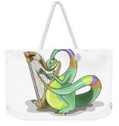 Illustration Of A Plateosaurus Playing Weekender Tote Bag