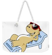 Illustration Of A Sunbathing Weekender Tote Bag by Stocktrek Images