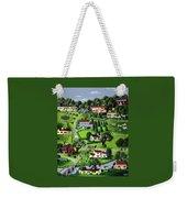 Illustration Of A Village Weekender Tote Bag