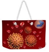 Illustration Of Influenza Weekender Tote Bag