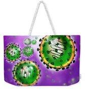 Illustration Of Sars Virus Weekender Tote Bag by Jim Dowdalls