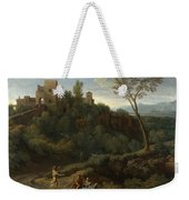 Imaginary Landscape With Buildings In Tivoli Weekender Tote Bag