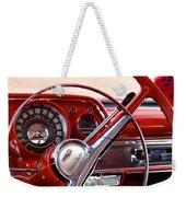 Red Belair With Dice Weekender Tote Bag