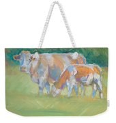 Impressionist Cow Calf Painting Weekender Tote Bag