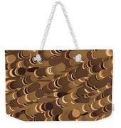Impressionist Golden Rising Sand Castle Show Pattern Art 36x12 Horizontal Landscape Energy Graphics  Weekender Tote Bag