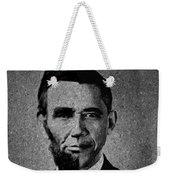 Impressionist Interpretation Of Lincoln Becoming Obama Weekender Tote Bag by Doc Braham
