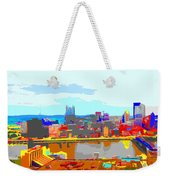 Impressionist Pittsburgh Across The River 2 Weekender Tote Bag
